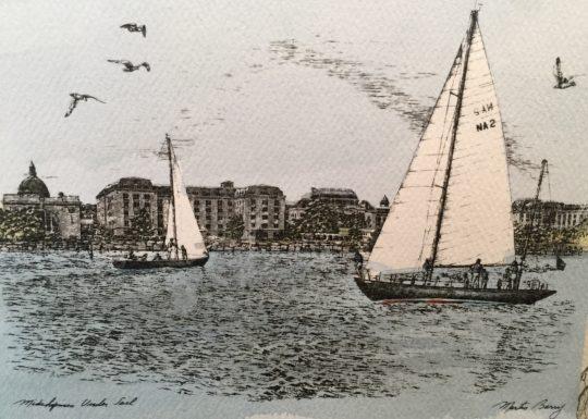 US Naval Academy - Midshipmen Under Sail